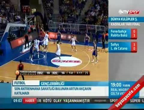 Fenerbahçe Ülker Union Olimpija Maçı NTVspor'da Canlı Yayınlanacak