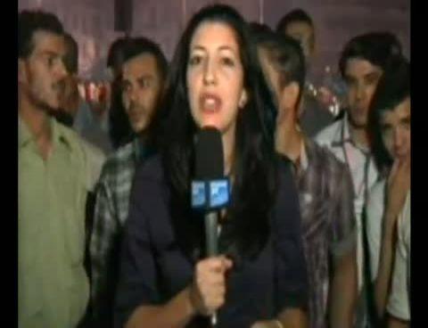 France 24��n M�s�r kad�n muhabiri Sonia Dridi'ye Canl� Yay�nda Taciz