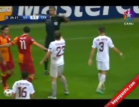 Galatasaray Cluj Maçında Kavga