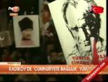 Kadıköy'de 'Cumhuriyete bağlılık' yürüyüşü online video izle