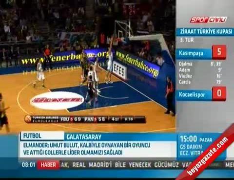 Fenerbahçe Ülker - Panathinaikos: 73 - 64 (THY Euroleague Maç Özeti)
