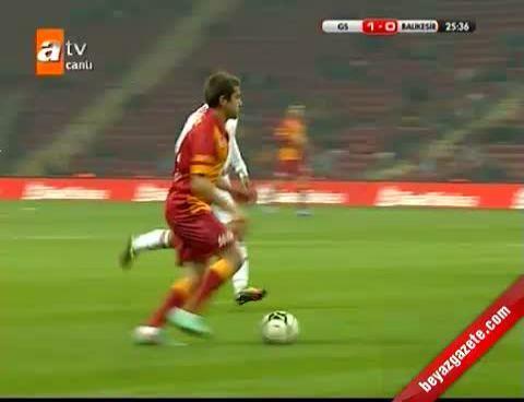 Galatasaray - Balıkesirspor: 4-1  Maçın Golleri (27.11.2012)