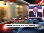 Ankara Metrosu'nda imza tamam