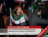 Suriye'ye tepki eylemleri
