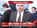 CHP'li Özkoç 12,5 saat konuştu