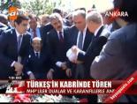 Türkeş'in kabrinde tören