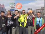 1 Mayıs Kutlamaları Nedeniyle Taksimdeki Direkler Yağlandı