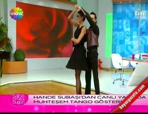 Hande Subaşı'dan Tango Şov