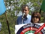 Azeriler Stockholm'de İran'ı Protesto Etti