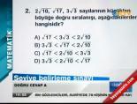 2012 SBS Matematik Cevapları