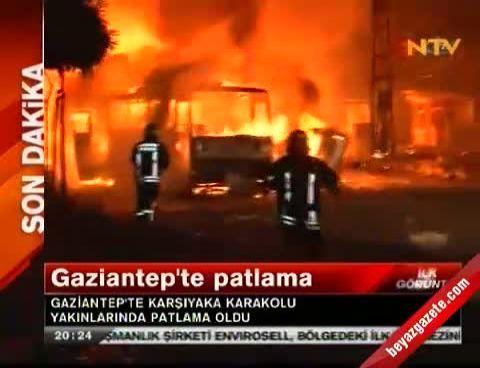 Gaziantepte Patlama! Olay Yerinden İlk Görüntüler