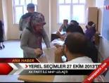 Yerel Seçimler 27 Ekim 2013'te