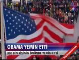 ABD Başkanı Barack Obama Yemin Etti