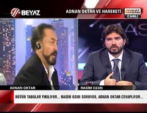 Rasim Ozan Kütahyalı Adnan Oktar Kavgası (Beyaz Tv - A9 Tv)