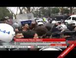 Protestoya polis engeli
