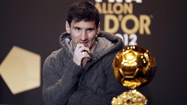 Messi 4. Kez Altın Top'u Kazandı (2012 Yılın Futbolcusu Messi)