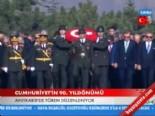 Anıtkabir'de Tören Düzenlendi (Cumhuriyet'in 90. Yıldönümü )  online video izle