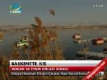 Başkentte Kış Ağır Geçiyor.. Mogan ve Eymir Gölü Buz Tuttu!
