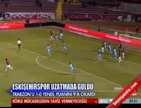 Eskişehirspor Trabzonspor: 1-0 Maçın Özeti