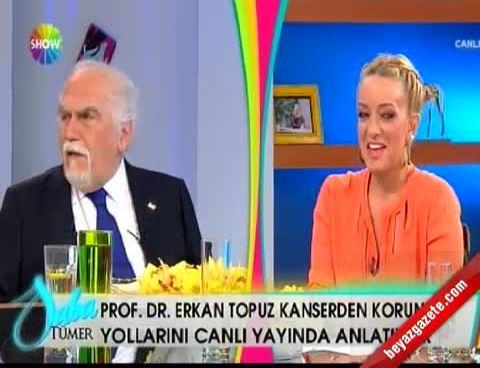 Erkan Topuz tarafından bozulan Saba Tümer sinirini seyircilerinden çıkarttı