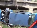 Kırıkkale'de Otomobil Nehre Düştü