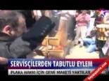 Servisçilerden tabutlu eylem  online video izle
