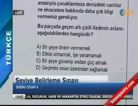 SBS Soruları ve Cevapları 'Türkçe' (SBS Soruları 2013)