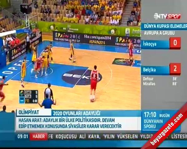 Türkiye İsveç Basketbol Maç Sonucu: 87-74