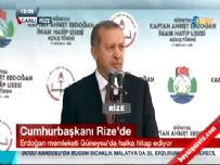Cumhurbaşkanı Erdoğan Rize' de halka hitap etti