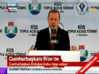 Cumhurbaşkanı Erdoğan Rize' de halka hitap ediyor 1