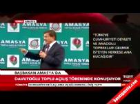 Başbakan Davutoğlu Amasya' da 2