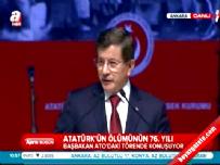 Başbakan Davutoğlu 10 Kasım Atatürk'ü Anma Toplantısı'nda konuştu