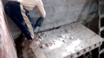 Beton Blokunu Hilti İle Kıran İşçi Yere Çakıldı