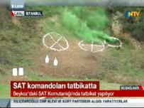 Sat Komandoları Beykoz'da Tatbikatta!