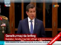 Başbakan Davutoğlu, Genelkurmay'daki brifing ardından konuştu