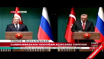 Erdoğan - Putin ortak basın toplantısı