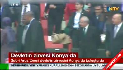 Davutoğlu, Kılıçdaroğlu'yla tokalaştı
