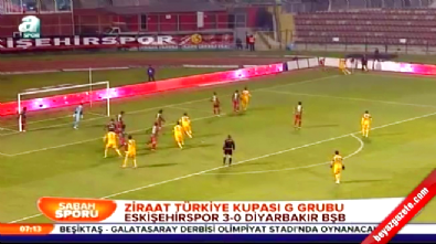 Eskişehirspor Diyarbakır BBSK: 3-0 Maç Özeti ve Golleri (Türkiye Kupası 17 Aralık 2014) İzle