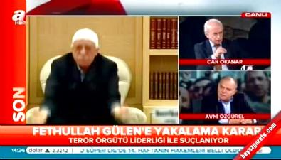 Avni Özgürel'den Fethullah Gülen yorumu: Bundan sonrası kırmızı bülten