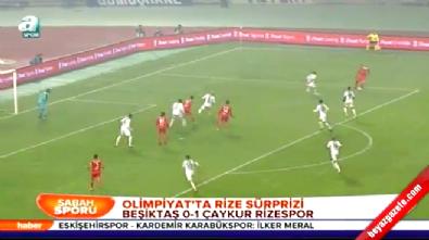 Beşiktaş Çaykur Rizespor: 0-1 Maç Özeti ve Golü (Türkiye Kupası 18 Aralık 2014)