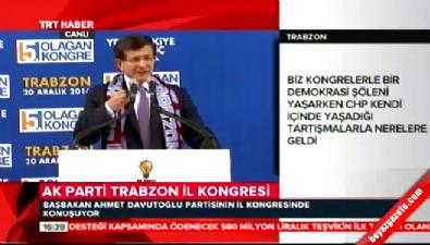 Başbakan Davutoğlu'ndan CHP'ye darbe göndermesi