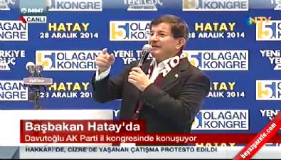 Başbakan Ahmet Davutoğlu Hatay İl Kongresi'nde Konuştu