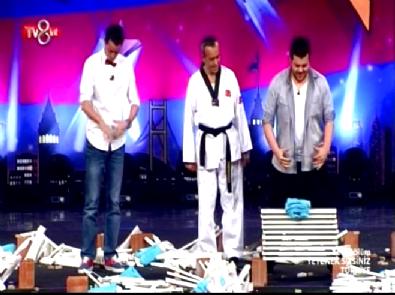 Yetenek Sizsiniz Türkiye'de Alp Kırşan ve Eser Yenenler'in Mermer Kırma Performansı!