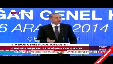 Cumhurbaşkanı Recep Tayyip Erdoğan ASKON'un 9. Olağan Genel Kurulu toplantısında konuştu