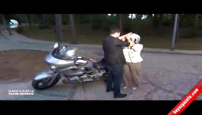Nazlı Ilıcak Burak Kut'la motosiklet turu attı