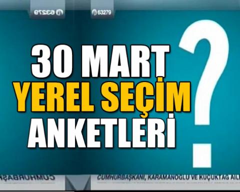 Ankara Yerel Seçim Anketi - 30 Mart 2014