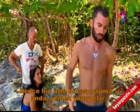 Survivor 2014 - Turabi Çamkıran ile Gönüllüler Takımı Arasında Yemek Kavgası
