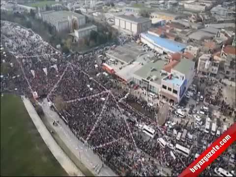 AK Parti İstanbul Mitingi 2014 - Miting Alanı Havadan Böyle Görüntülendi