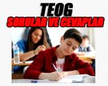 TEOG 8. Sınıf Liseye Geçiş Sınav Soruları ve Cevapları 2014 (Matematik-Türkçe-İngilizce) www.meb.gov.tr