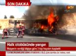 İstanbul TEM Otoyolunda Halk Otobüsünde Yangın: 4 Kişi Yanarak Can Verdi  online video izle